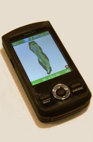 これが今回最大の売り、コースレイアウト、グリーンの傾斜情報の画面です!