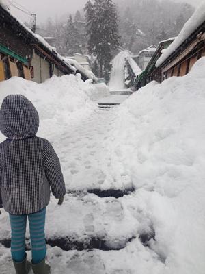 近所の飯盛山も真っ白